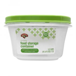 Hannaford 5.2-Cup Square Food Storage Container