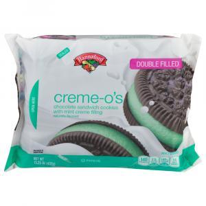 Hannaford Creme-O's Chocolate Mint Creme Sandwich Cookies