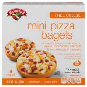 Hannaford Three Cheese Mini Pizza Bagels