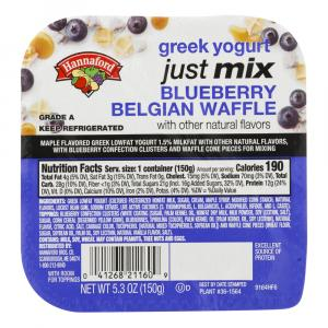 Hannaford Just Mix Blueberry Belgian Waffle Yogurt