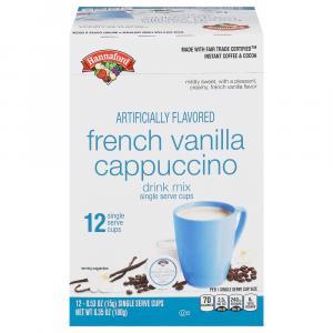 Hannaford Cappuccino French Vanilla Single Serve