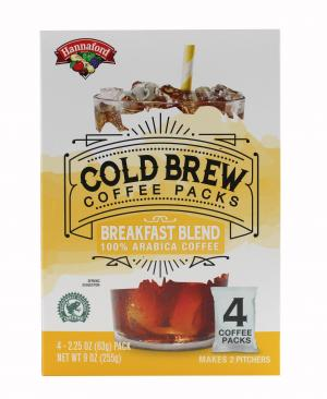 Hannaford Cold Brew Coffee Packs Breakfast Blend