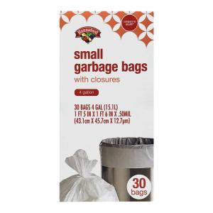 Hannaford 4-Gallon Small Garbage Bags
