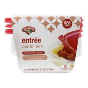 Hannaford Entree Containers & Lids