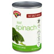 Hannaford No Salt Added Whole Leaf Spinach
