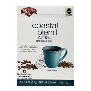 Hannaford Coastal Blend Coffee Single Serving Cup