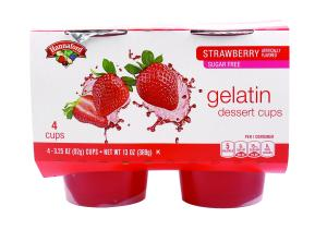 Hannaford Sugar Free Strawberry Gelatin Dessert Cups