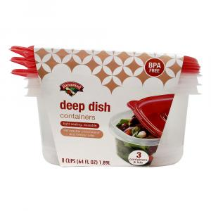 Hannaford Deep Dish Containers & Lids