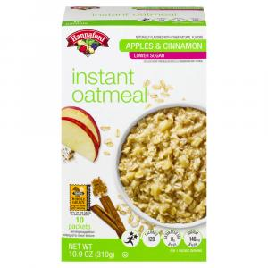 Hannaford Low Sugar Apple Cinnamon Instant Oatmeal