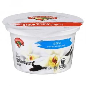 Hannaford Greek Nonfat Vanilla Yogurt