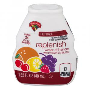 Hannaford Fruit Punch Replenishing Water Enhancer