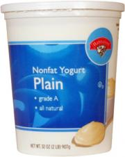 Hannaford Light Nonfat Plain Yogurt