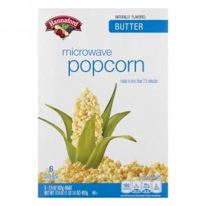 Hannaford Butter Microwave Popcorn