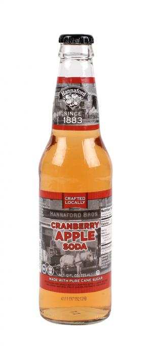 Hannaford Cranberry Apple Soda Single