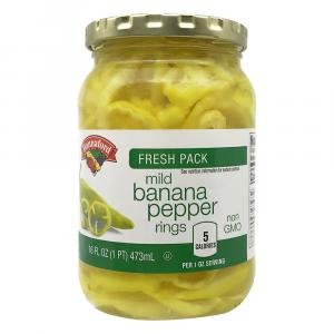 Hannaford Mild Banana Pepper Rings