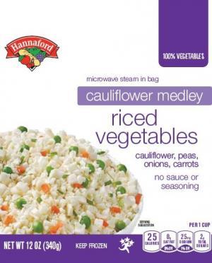 Hannaford Cauliflower Medley Riced Vegetables