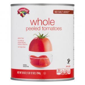 Hannaford No Salt Added Whole Peeled Tomatoes