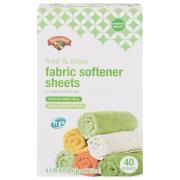 Hannaford Mountain Fresh Free & Clear Fabric Softener Sheets