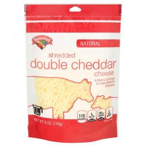 Hannaford Double White Shredded Cheddar Cheese