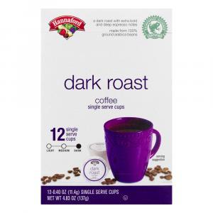 Hannaford Dark Roast Coffee Single Serve Cup