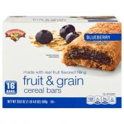 Hannaford Blueberry Fruit & Grain Cereal Bars