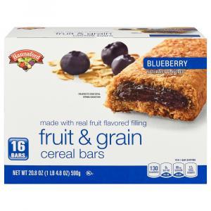 Hannaford Blueberry Fruit & Grain Cereal Bars
