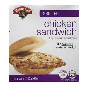 Hannaford Grilled Chicken Sandwich