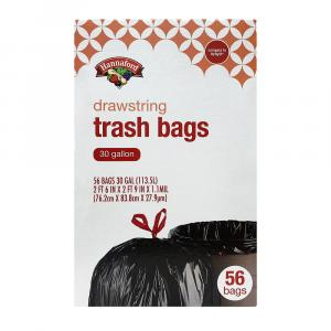 Hannaford Drawstring Trash Bags 30 Gallon