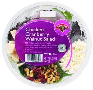 Hannaford Chicken Cranberry Walnut Salad Bistro Bowl