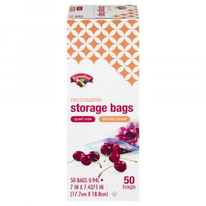 Hannaford Reclosable Quart Storage Bags