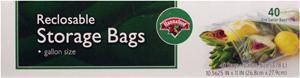 Hannaford Gallon Size Food Storage Bags