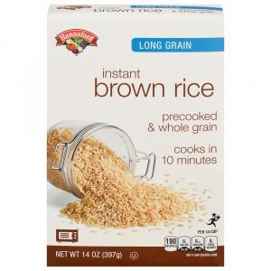 Hannaford Long Grain Instant Brown Rice