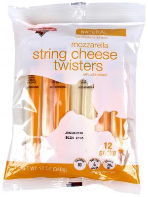 Hannaford Mozzarella String Cheese Twisters