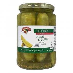 Hannaford Bread & Butter Pickle Spears With Splenda