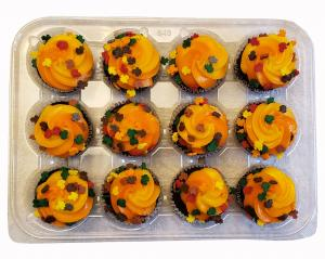 Mini Harvest Chocolate Cupcakes
