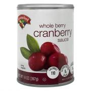 Hannaford Whole Cranberry Sauce