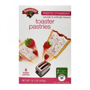 Hannaford Frosted Strawberry Toaster Pastries