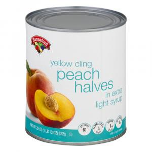 Hannaford Peach Halves in Extra Lite Syrup