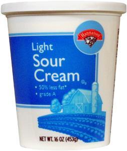 Hannaford Light Sour Cream