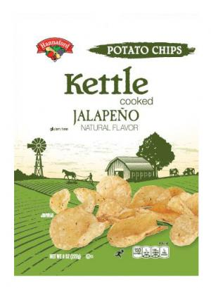 Hannaford Kettle Cooked Jalapeno Potato Chips