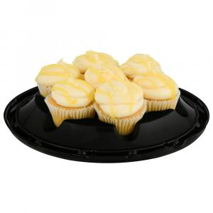 Gold Lemon Filled Cupcakes with Cream Cheese Icing