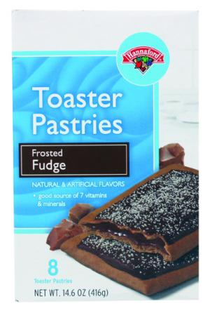 Hannaford Frosted Fudge Toaster Pastries