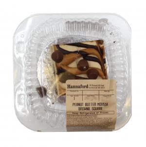 Hannaford Peanut Butter Mousse Brownie Square