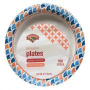 "Hannaford 8.62"" Designer Paper Plates"