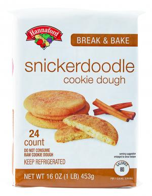 Hannaford Snickerdoodle Break And Bake Cookie Dough