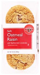 Hannaford Chewy Oatmeal Raisin Cookies