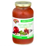 Hannaford Family Favorites Tomato Basil Pasta Sauce