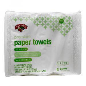 Hannaford Premium Paper Towels Choose A Size 6 Big Rolls