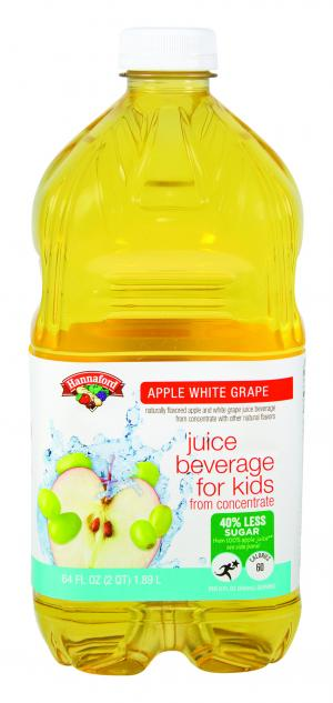 Hannaford Less Sugar Apple & White Grape Juice