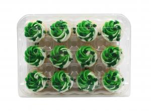 Mini Gold St. Patrick's Day Cupcakes